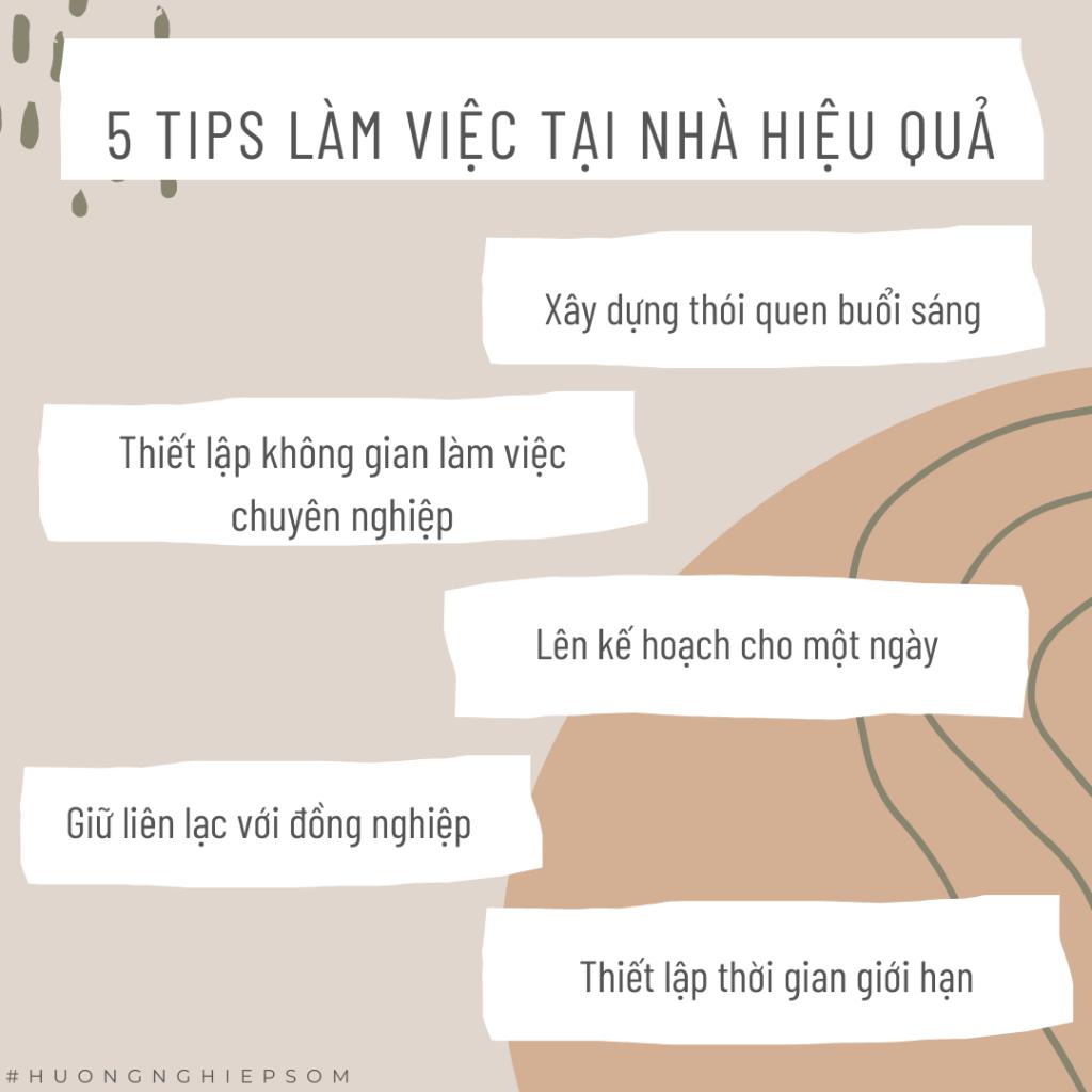 5 TIPS LÀM VIỆC HIỆU QUẢ TẠI NHÀ MÙA COVID