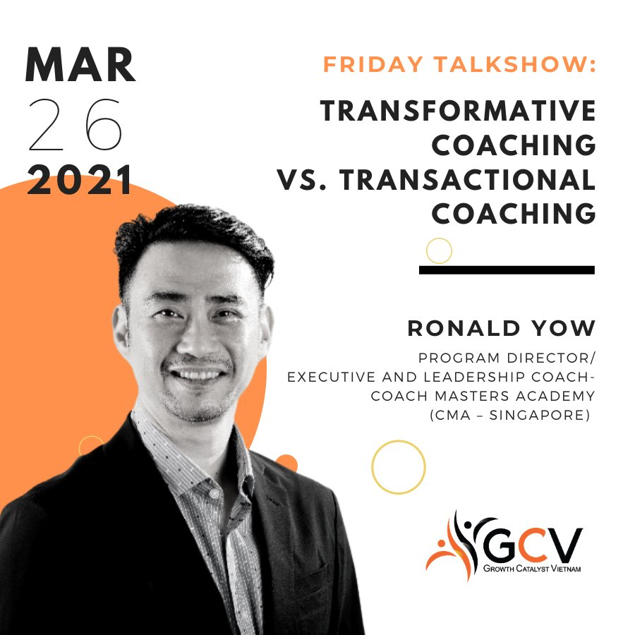 FRIDAY TALKSHOW 03/2021: TRANSFORMATIONAL COACHING VS. TRANSACTIONAL COACHING
